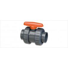 KOGELKRAAN PVC 40 MM MET 2 X WARTEL