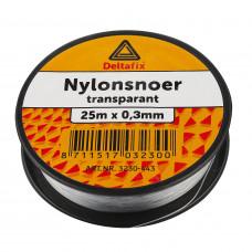 NYLON SNOER TRANSPARANT 0.5 MM 25 METER