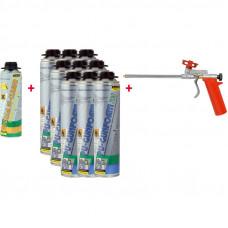 ZWALUW PU-STARTBOX 750: 1 X GUN + 9 X FOAM + 1 X CLEAN