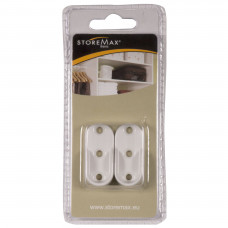 STOREMAX DRAGERS GARDEROBESTANG WIT (2 ST)