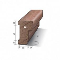 KOZIJNHOUT HH A-PROFIEL (BOVEN) 66 X 110 X 3350 MM