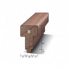 KOZIJNHOUT HH B-PROFIEL (TUSSENSTIJL) 66 X 110 X 3050 MM